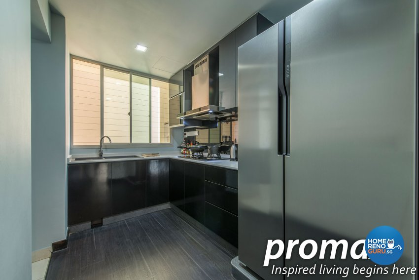 Modern, Rustic Design - Kitchen - Condominium - Design by Promax Design Pte Ltd