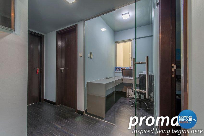 Modern, Rustic Design - Study Room - Condominium - Design by Promax Design Pte Ltd