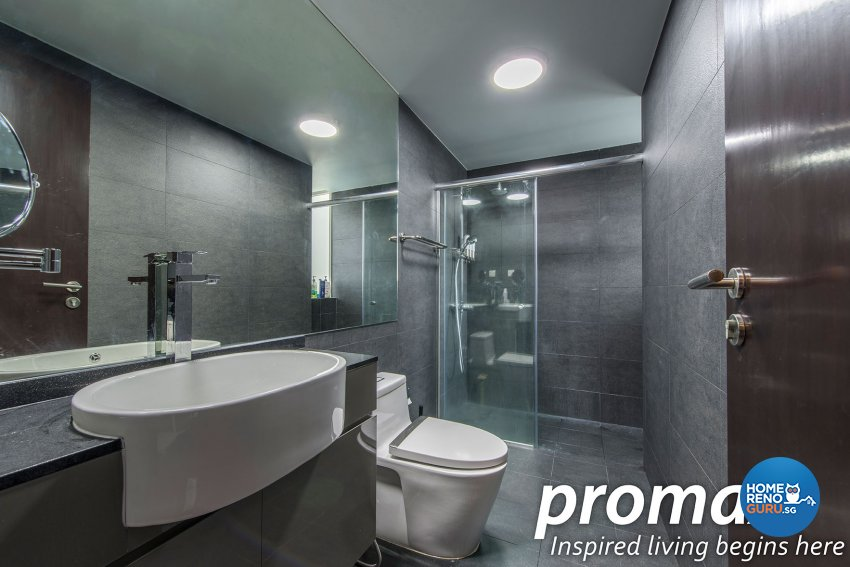 Modern, Rustic Design - Bathroom - Condominium - Design by Promax Design Pte Ltd