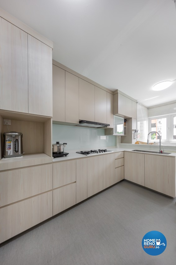 Modern, Scandinavian Design - Kitchen - HDB 4 Room - Design by Promax Design Pte Ltd