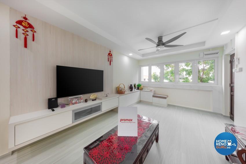 Modern, Scandinavian Design - Living Room - HDB 4 Room - Design by Promax Design Pte Ltd