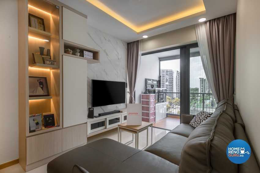 Modern Design - Living Room - Condominium - Design by Promax Design Pte Ltd