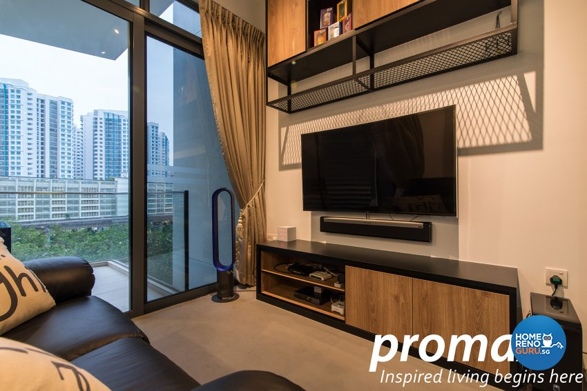 Industrial, Modern Design - Living Room - Condominium - Design by Promax Design Pte Ltd
