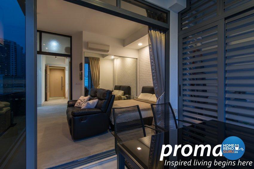 Industrial, Modern Design - Balcony - Condominium - Design by Promax Design Pte Ltd