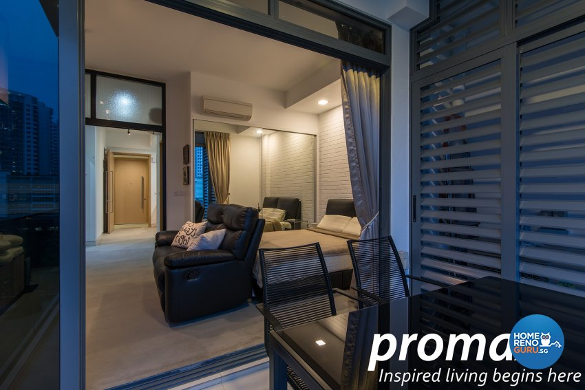 Industrial, Modern Design - Balcony - Condominium - Design by Promax Design Pte Ltd