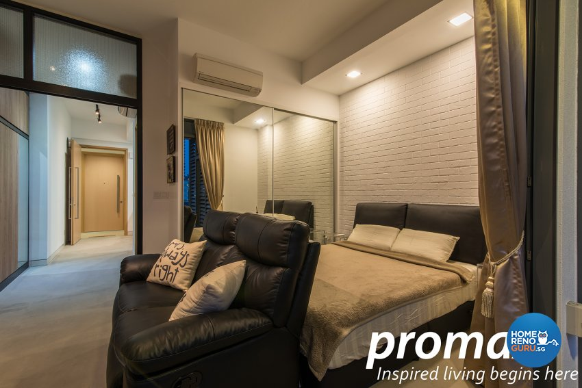 Industrial, Modern Design - Bedroom - Condominium - Design by Promax Design Pte Ltd