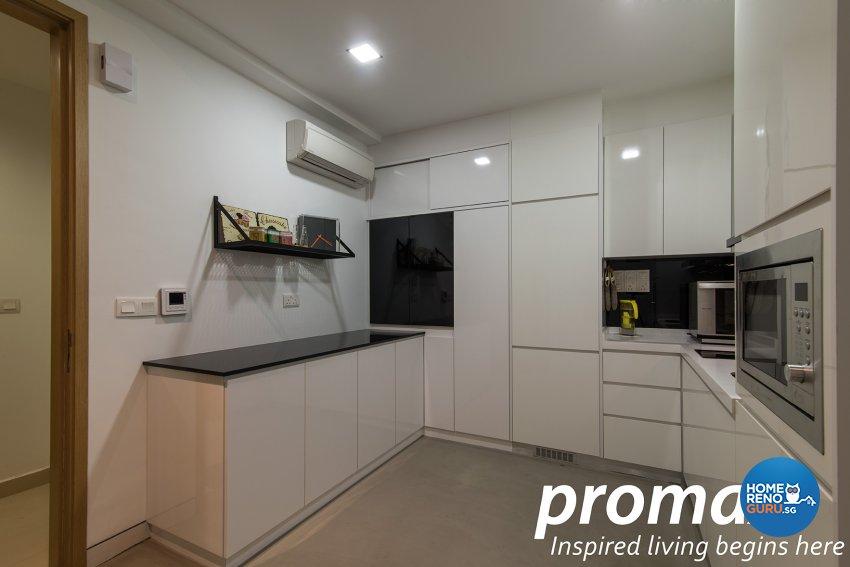 Industrial, Modern Design - Kitchen - Condominium - Design by Promax Design Pte Ltd