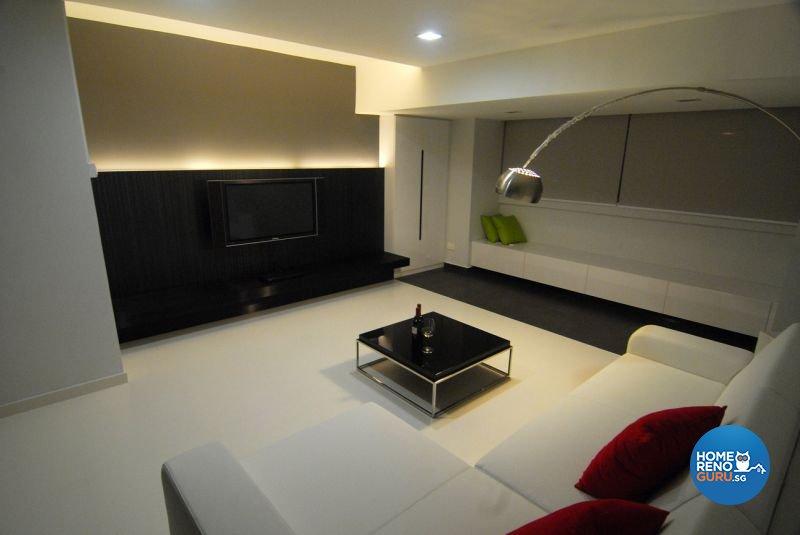 Minimalist, Modern Design - Living Room - HDB 5 Room - Design by Promax Design Pte Ltd