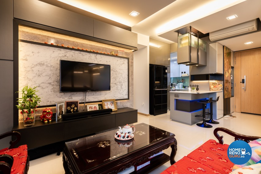 Eclectic, Modern Design - Living Room - Condominium - Design by Prozfile Pte Ltd