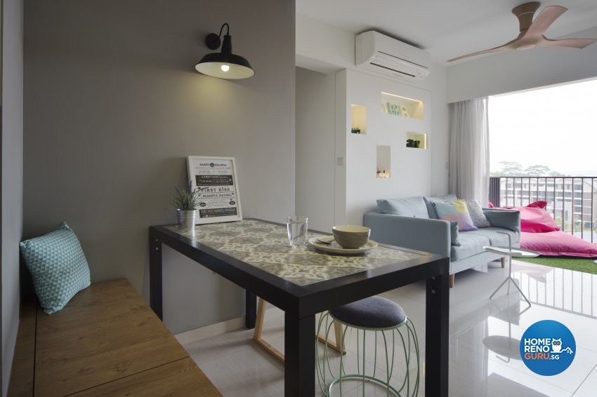 Eclectic Design - Dining Room - HDB 4 Room - Design by Prozfile Pte Ltd