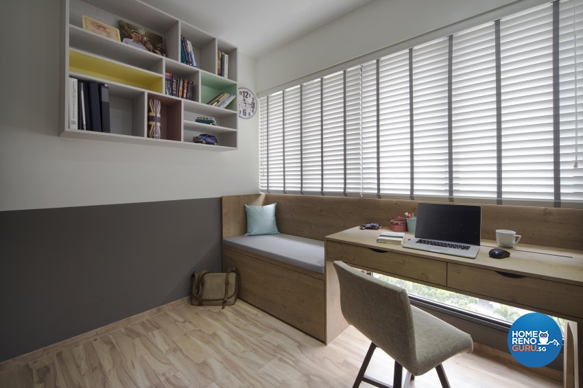 Eclectic Design - Study Room - HDB 4 Room - Design by Prozfile Pte Ltd