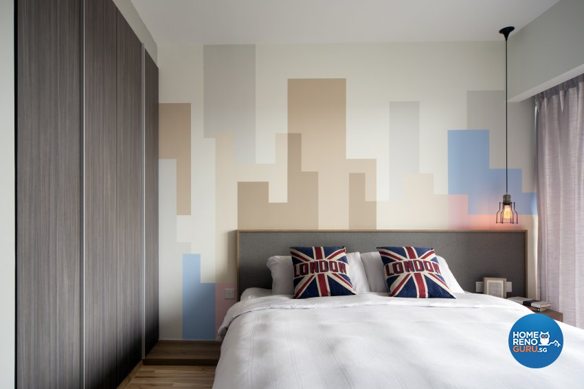 Eclectic Design - Bedroom - HDB 4 Room - Design by Prozfile Pte Ltd