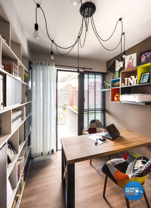 Eclectic, Industrial, Rustic Design - Study Room - Condominium - Design by Prozfile Pte Ltd