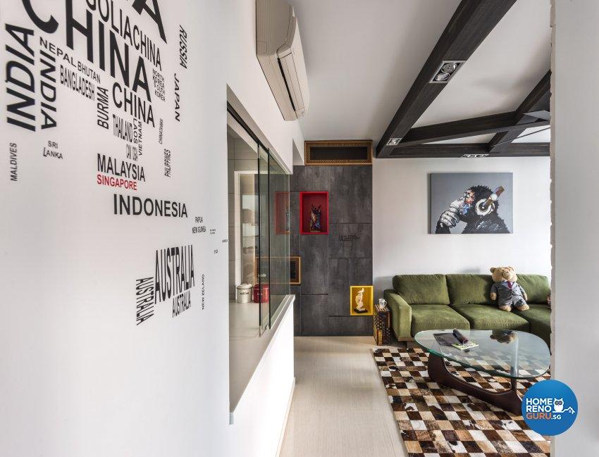 Eclectic, Industrial, Rustic Design - Living Room - Condominium - Design by Prozfile Pte Ltd