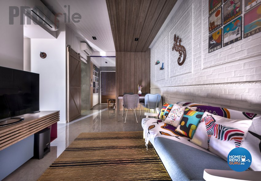 Scandinavian Design - Living Room - Condominium - Design by Prozfile Pte Ltd