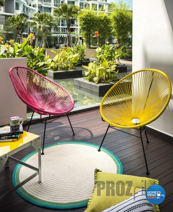 Scandinavian Design - Balcony - Condominium - Design by Prozfile Pte Ltd