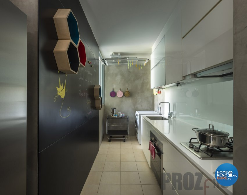 Scandinavian Design - Kitchen - Condominium - Design by Prozfile Pte Ltd