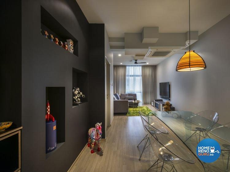 Contemporary, Scandinavian Design - Dining Room - Condominium - Design by Prozfile Pte Ltd