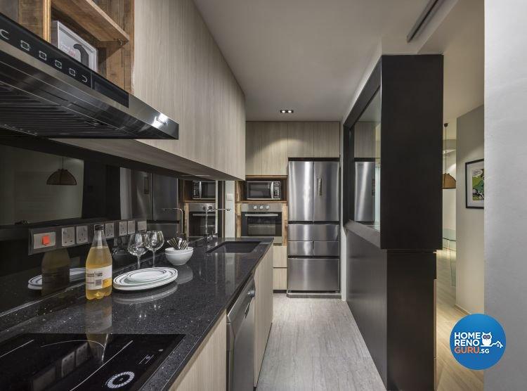 Contemporary, Scandinavian Design - Kitchen - Condominium - Design by Prozfile Pte Ltd