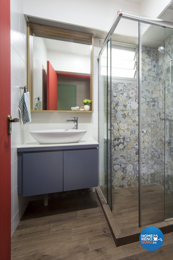 Eclectic, Scandinavian Design - Bathroom - HDB 4 Room - Design by Prozfile Pte Ltd