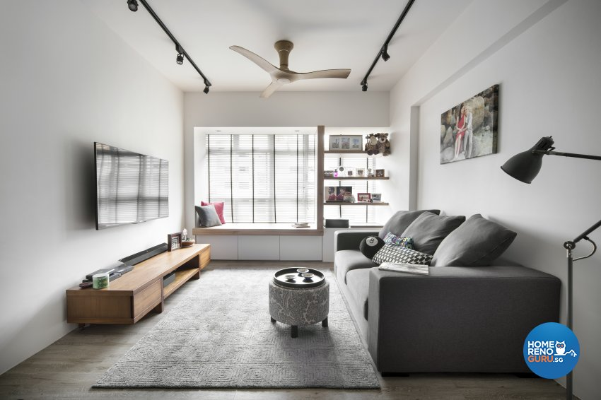 Eclectic, Scandinavian Design - Living Room - HDB 4 Room - Design by Prozfile Pte Ltd