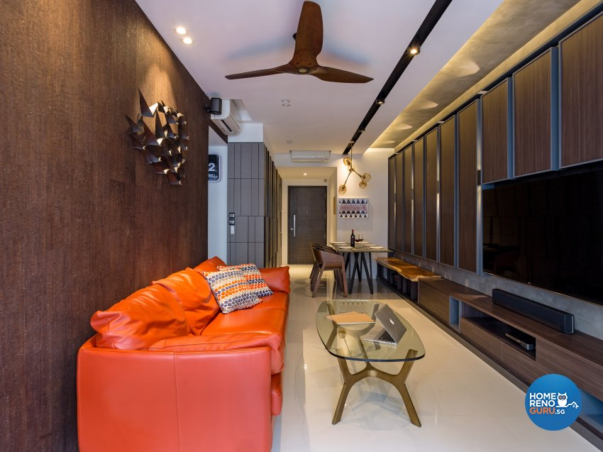 Eclectic, Mediterranean, Modern Design - Living Room - Condominium - Design by Prozfile Pte Ltd