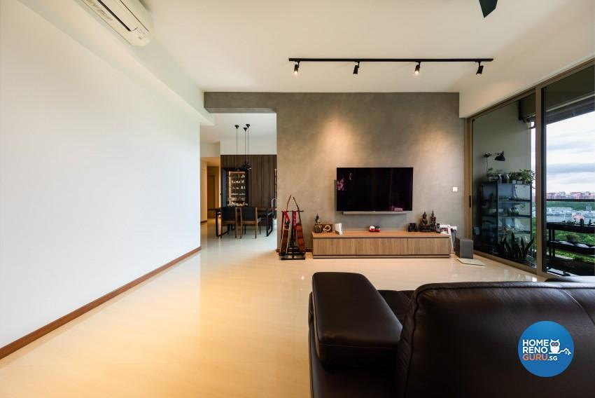 Modern, Scandinavian Design - Living Room - Condominium - Design by Prozfile Pte Ltd