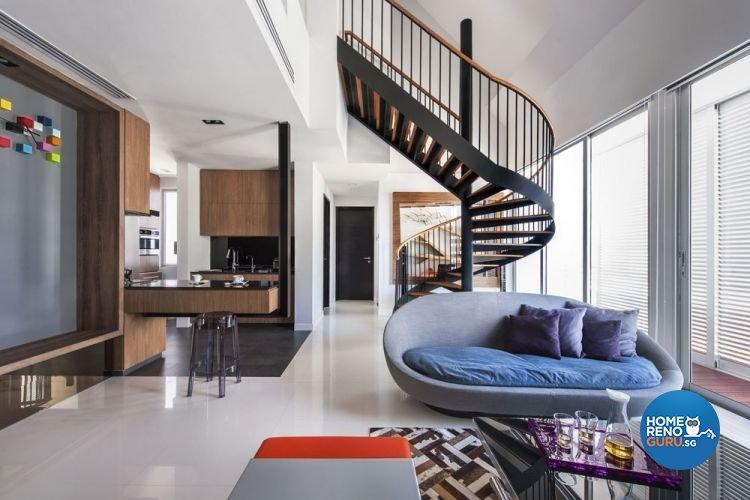 Modern, Scandinavian Design - Living Room - Landed House - Design by Prozfile Pte Ltd