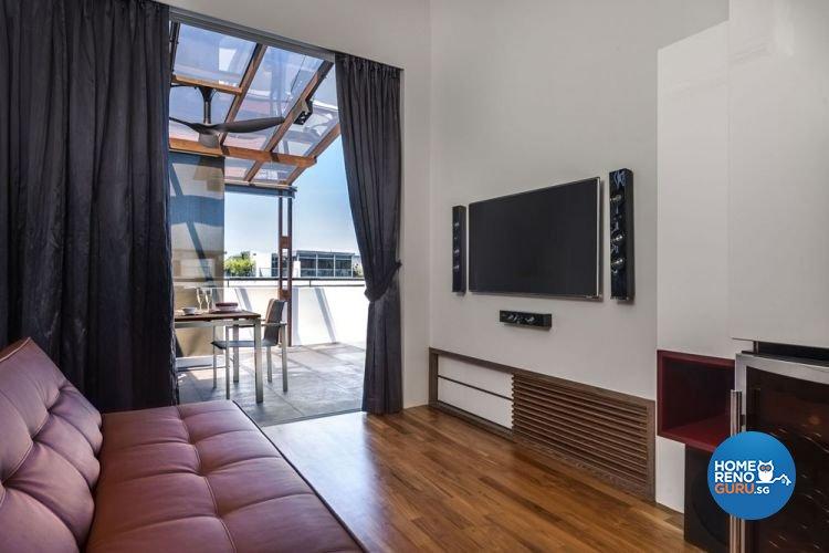 Modern, Scandinavian Design - Entertainment Room - Landed House - Design by Prozfile Pte Ltd