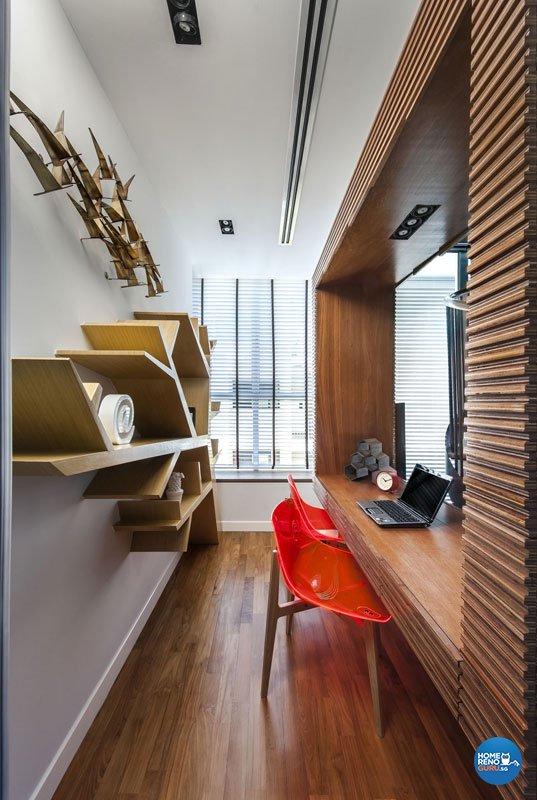 Modern, Scandinavian Design - Study Room - Landed House - Design by Prozfile Pte Ltd