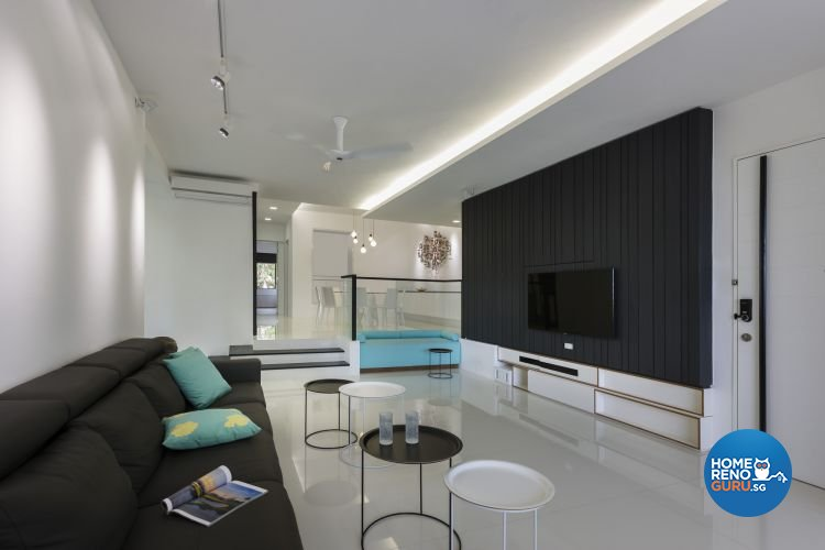 Contemporary, Modern Design - Living Room - Condominium - Design by Prozfile Pte Ltd