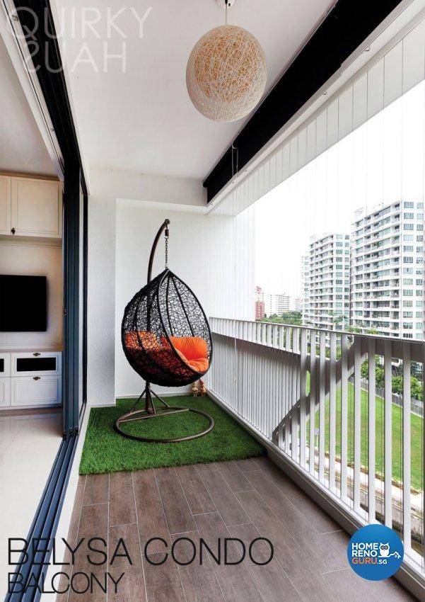 Classical, Modern Design - Balcony - Condominium - Design by Quirky Haus Pte Ltd