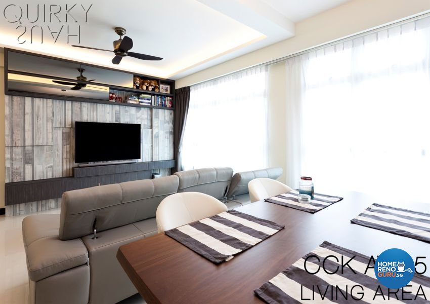 Contemporary, Modern Design - Living Room - HDB 5 Room - Design by Quirky Haus Pte Ltd