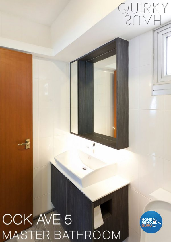 Contemporary, Modern Design - Bathroom - HDB 5 Room - Design by Quirky Haus Pte Ltd