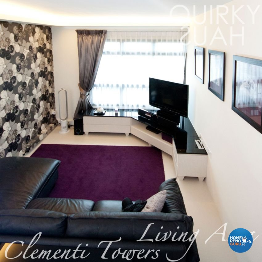 Contemporary, Modern Design - Living Room - HDB 4 Room - Design by Quirky Haus Pte Ltd