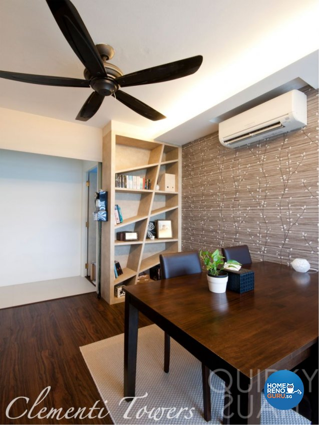 Contemporary, Modern Design - Study Room - HDB 4 Room - Design by Quirky Haus Pte Ltd