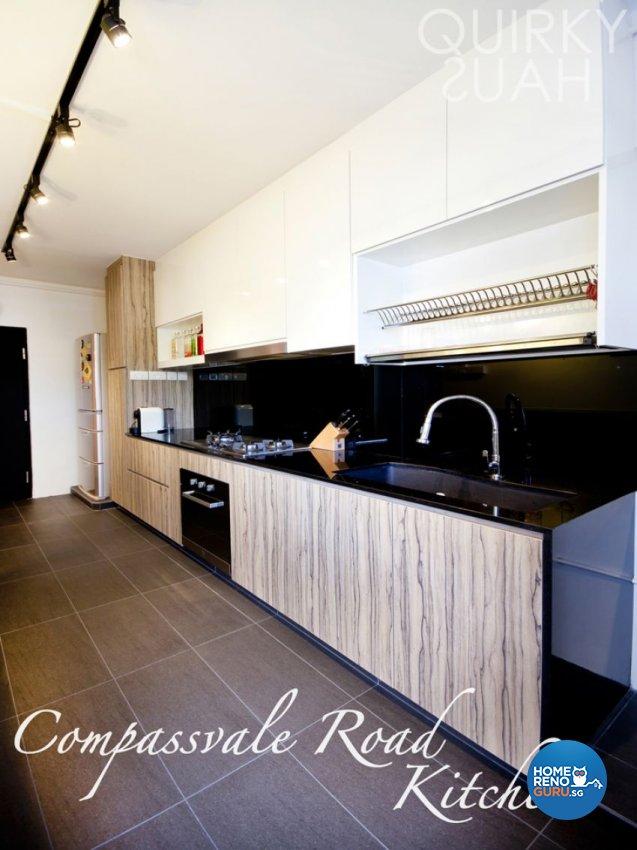 Industrial, Scandinavian Design - Kitchen - HDB 4 Room - Design by Quirky Haus Pte Ltd
