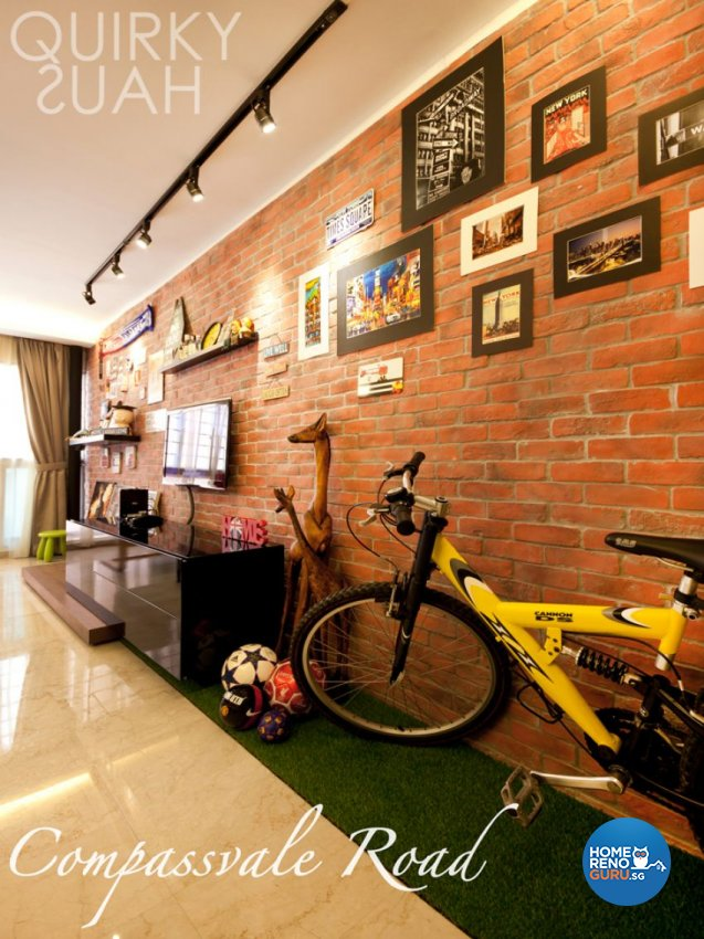 Industrial, Scandinavian Design - Living Room - HDB 4 Room - Design by Quirky Haus Pte Ltd