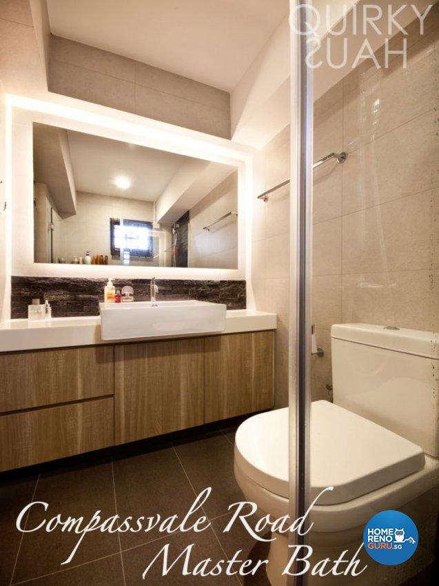 Industrial, Scandinavian Design - Bathroom - HDB 4 Room - Design by Quirky Haus Pte Ltd