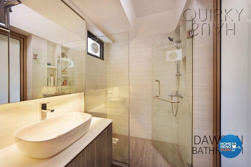 Modern, Scandinavian Design - Bathroom - HDB 4 Room - Design by Quirky Haus Pte Ltd