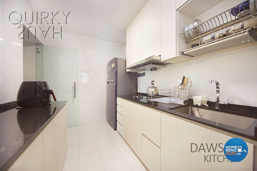 Modern, Scandinavian Design - Kitchen - HDB 4 Room - Design by Quirky Haus Pte Ltd