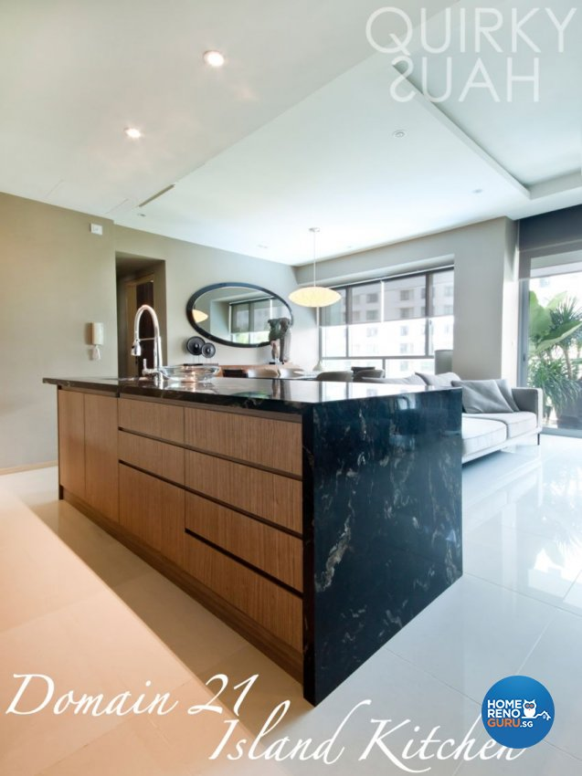 Country, Modern Design - Kitchen - Condominium - Design by Quirky Haus Pte Ltd
