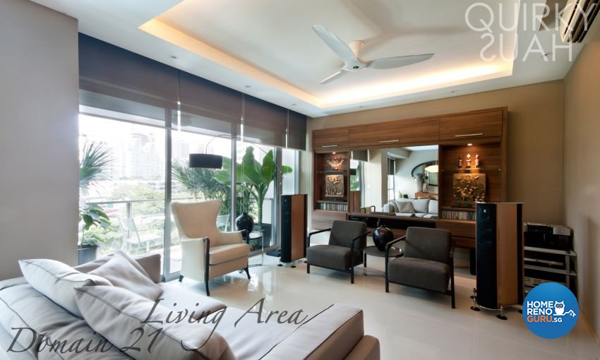 Country, Modern Design - Living Room - Condominium - Design by Quirky Haus Pte Ltd