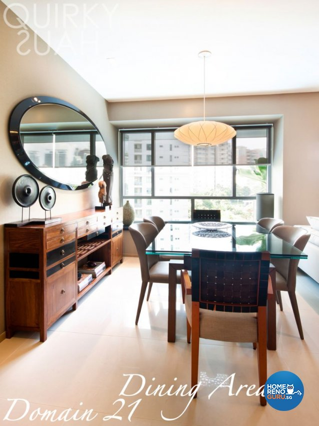 Country, Modern Design - Dining Room - Condominium - Design by Quirky Haus Pte Ltd