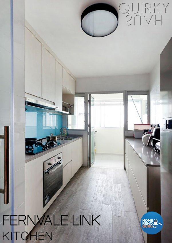 Contemporary, Industrial, Modern Design - Kitchen - HDB 4 Room - Design by Quirky Haus Pte Ltd