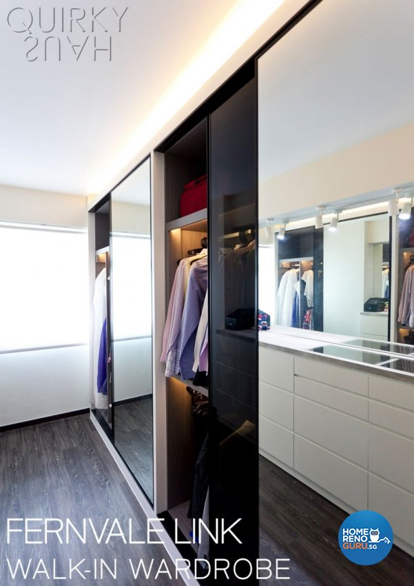 Contemporary, Industrial, Modern Design - Bedroom - HDB 4 Room - Design by Quirky Haus Pte Ltd