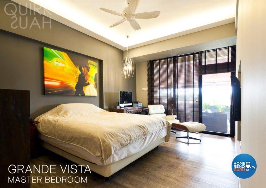 Minimalist, Modern Design - Bedroom - Condominium - Design by Quirky Haus Pte Ltd