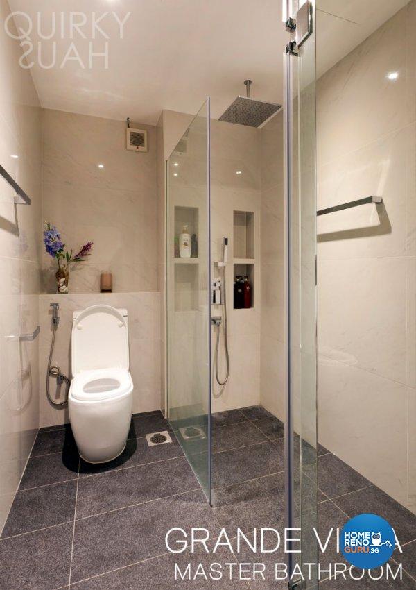 Minimalist, Modern Design - Bathroom - Condominium - Design by Quirky Haus Pte Ltd