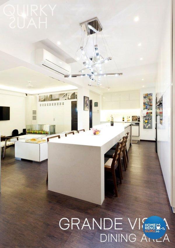 Minimalist, Modern Design - Dining Room - Condominium - Design by Quirky Haus Pte Ltd