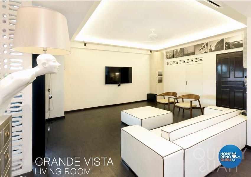 Minimalist, Modern Design - Living Room - Condominium - Design by Quirky Haus Pte Ltd